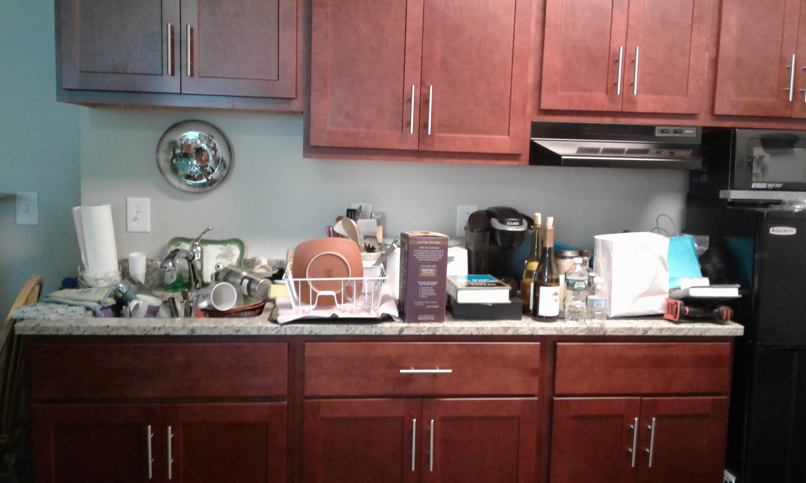 kitchenette counter before