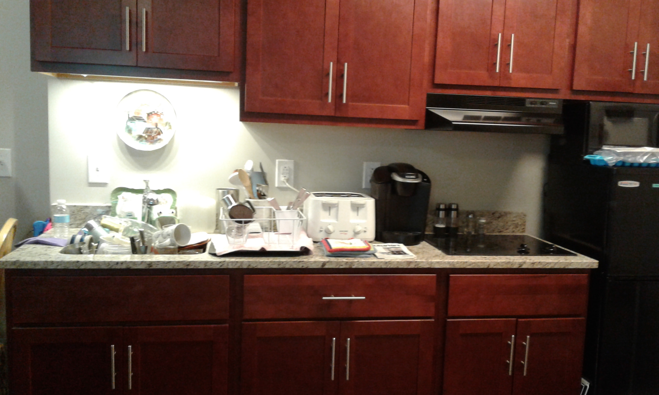 kitchenette counter after