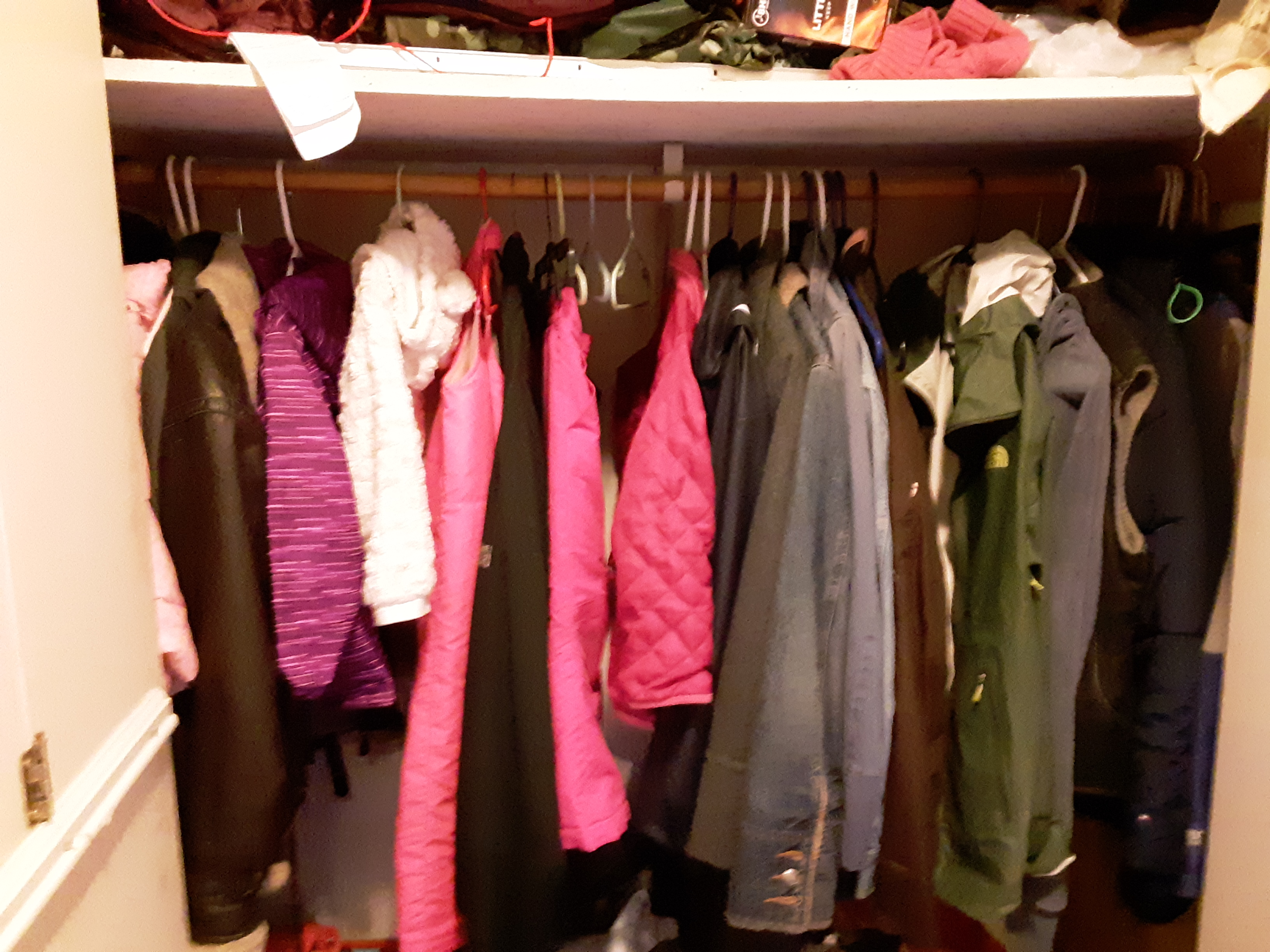 Jackets and coats in disarray
