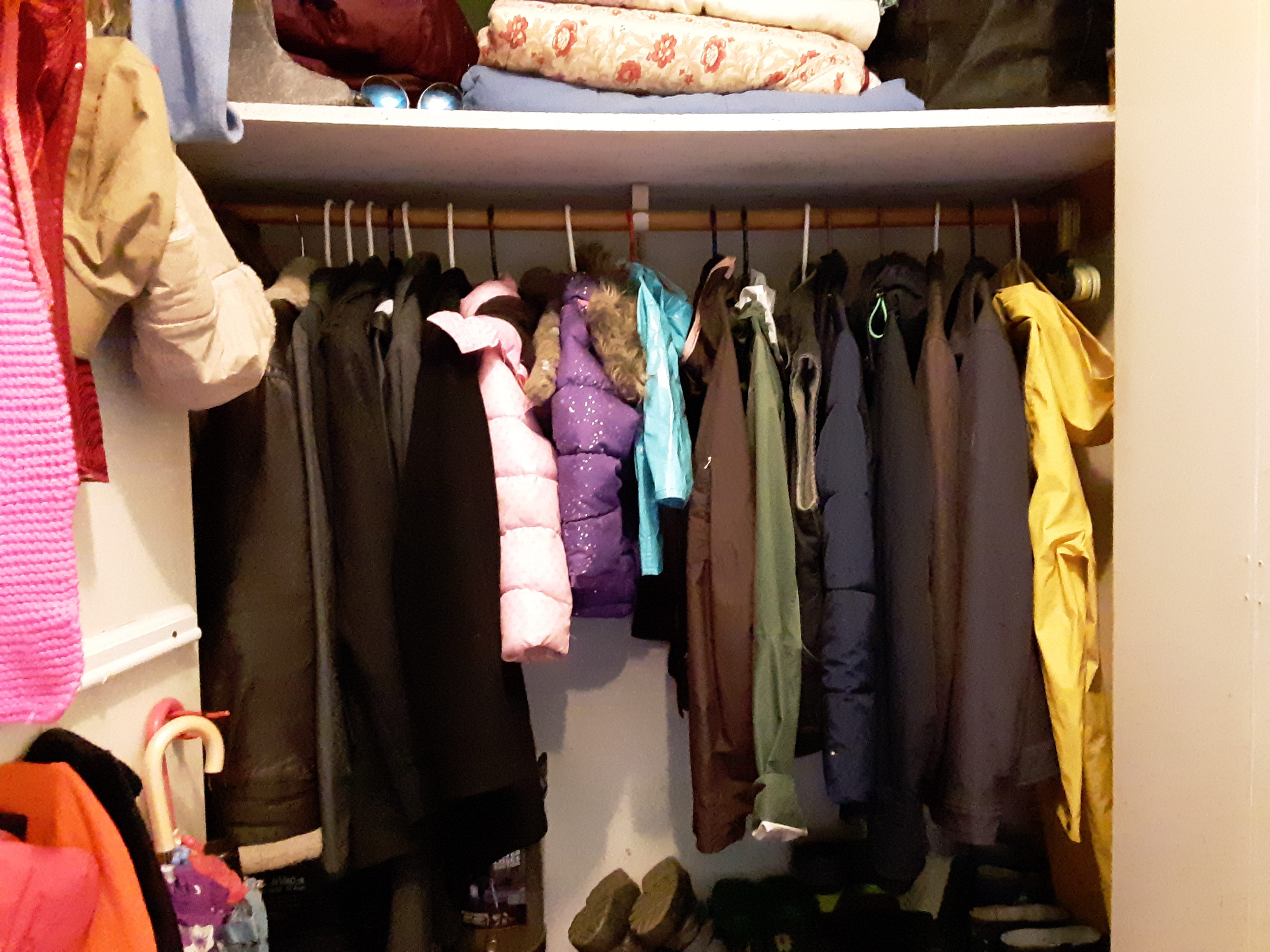 Organized jackets and coats are easier to find!