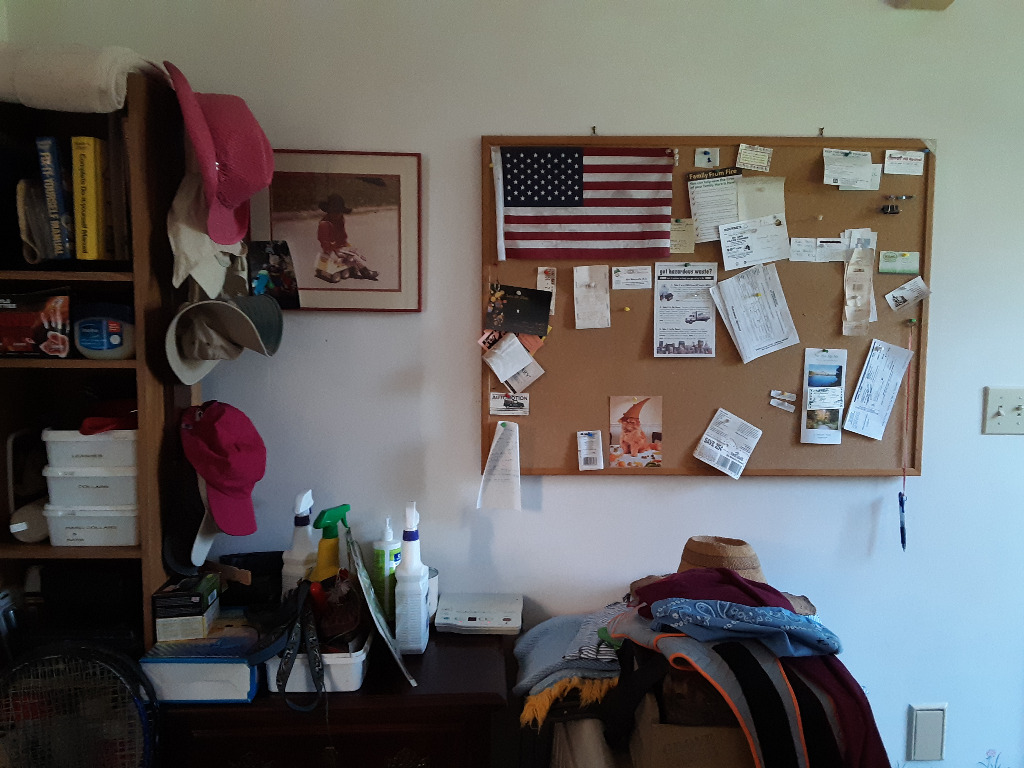 Part of the mud room before we cleared its clutter