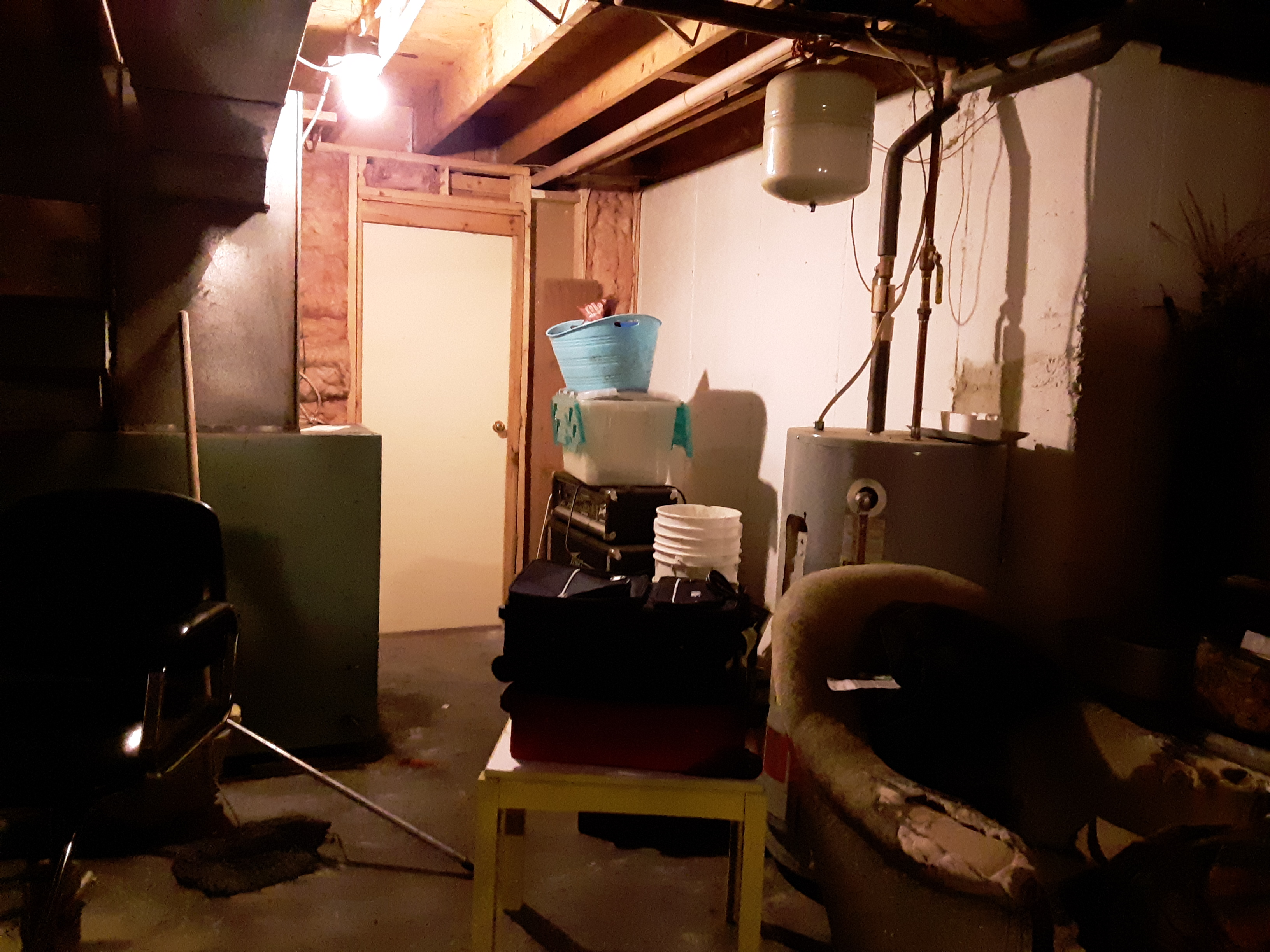 Part of the basement before we cleared its clutter