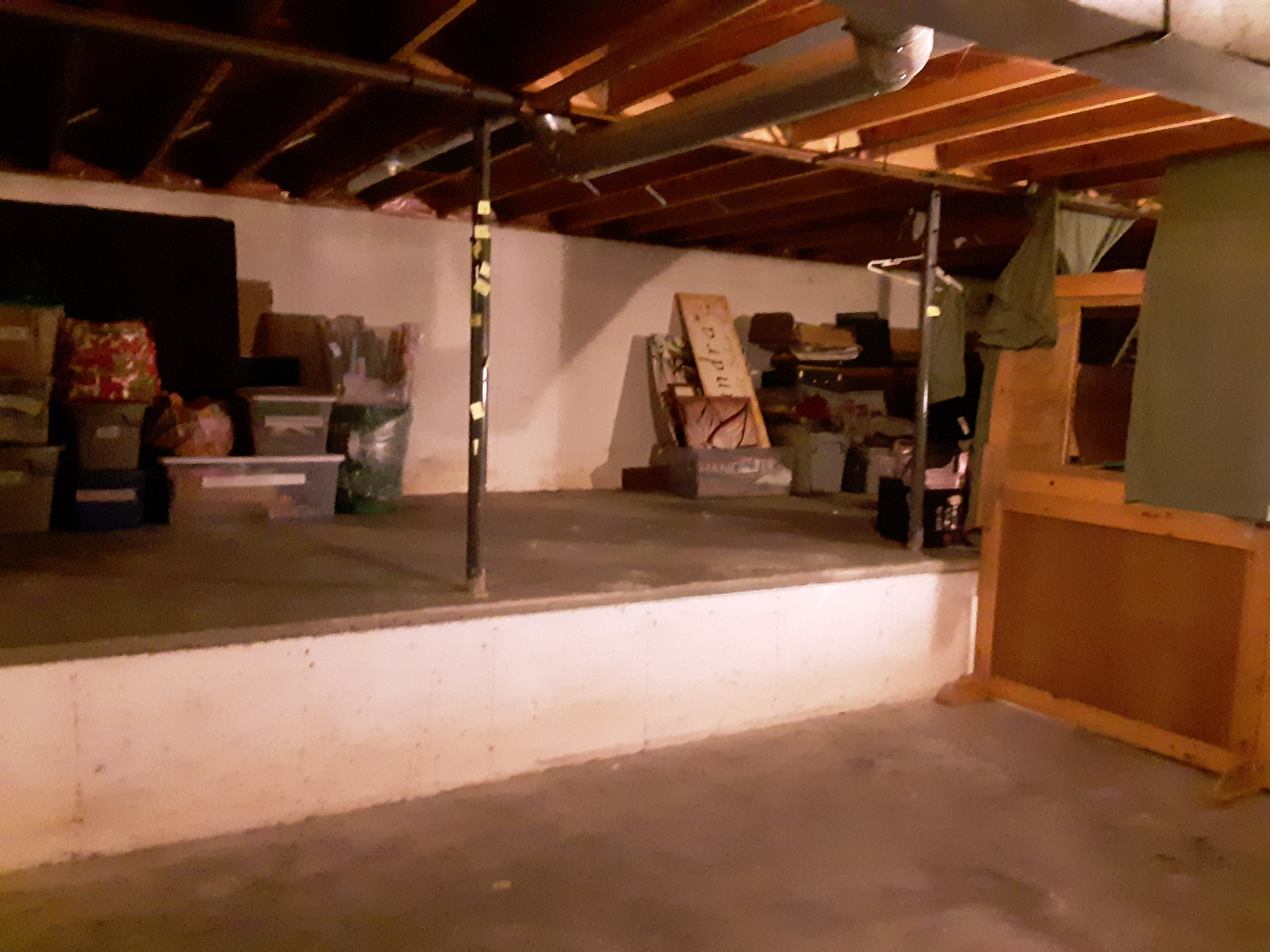 A cleared basement area and floor!