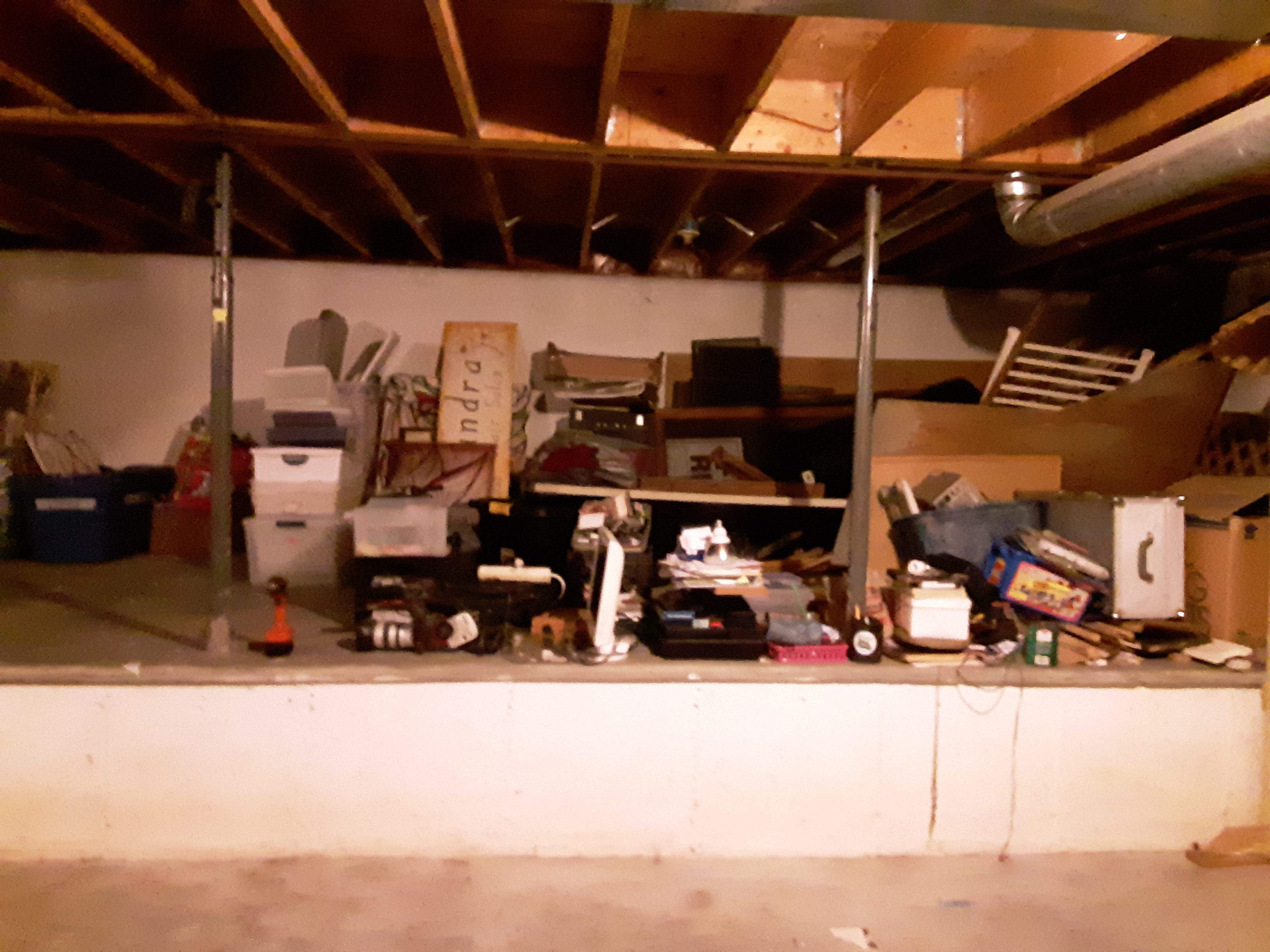 Part of the basement before we organized it