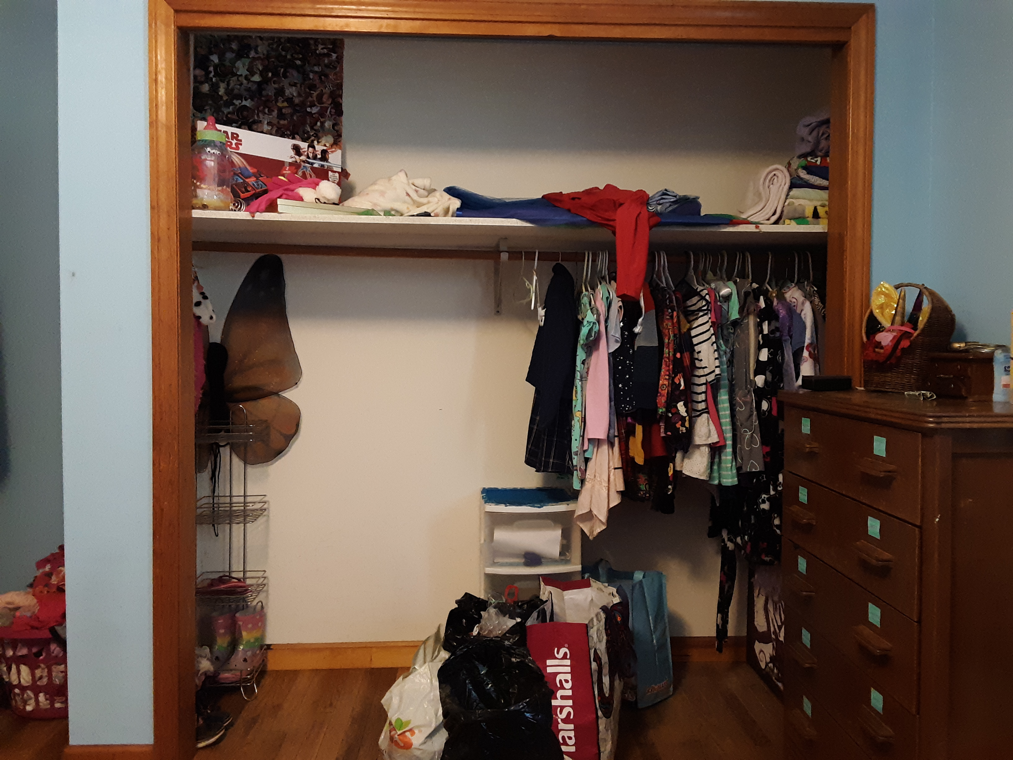 Ava's closet before we organized it