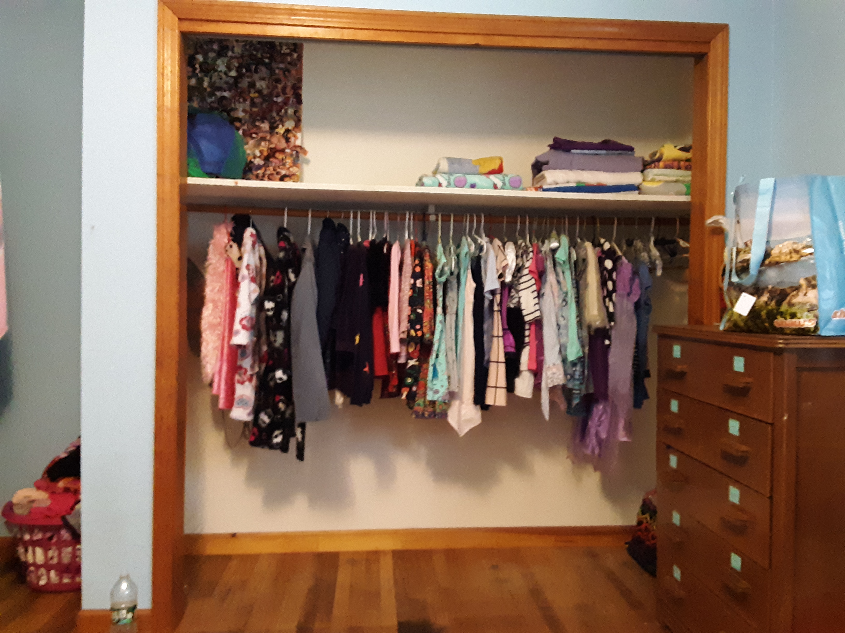 Now, Ava's closet is organized!