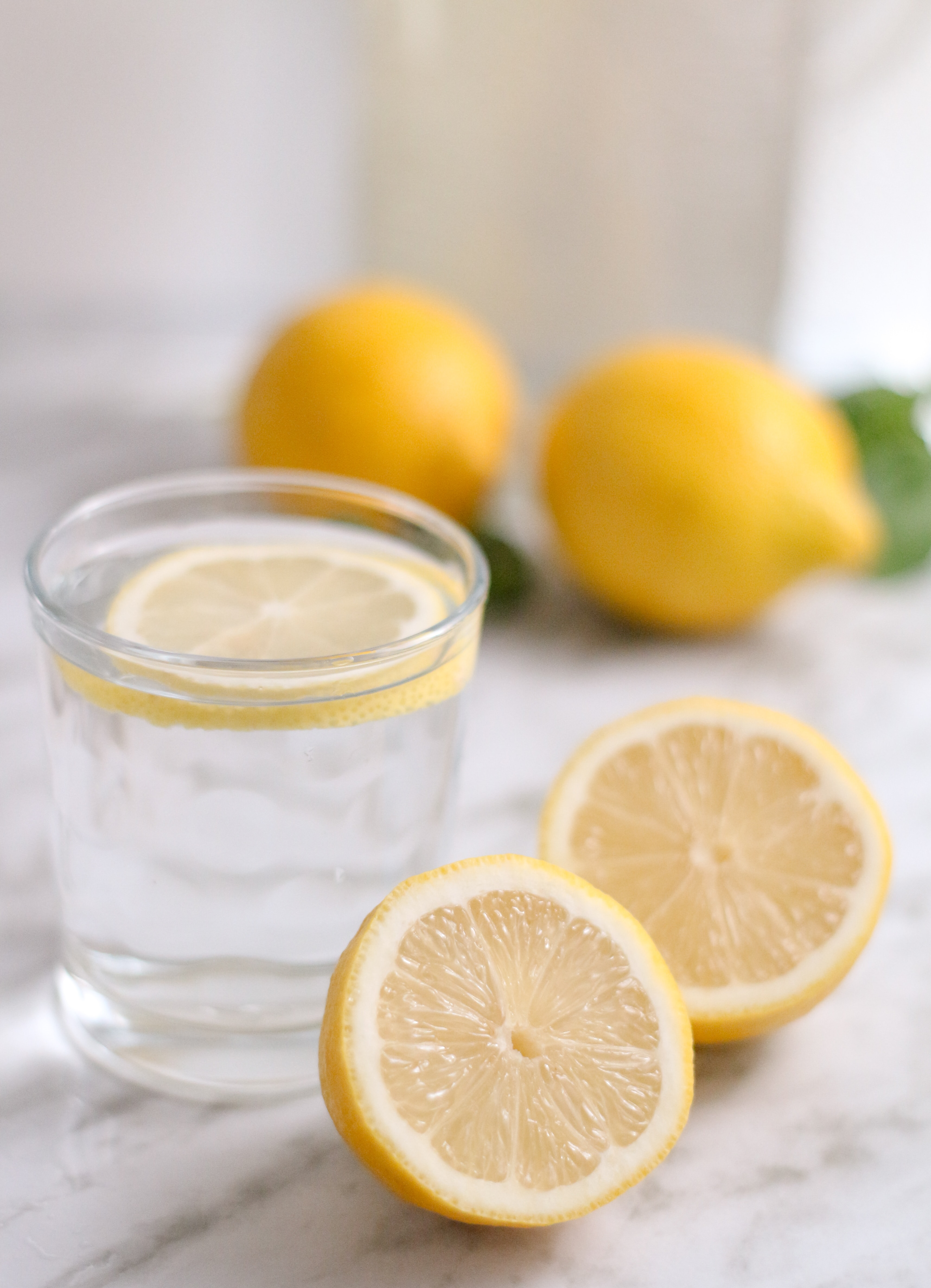 Lemon helps our complexions and helps to maintain the garbage disposal, too!