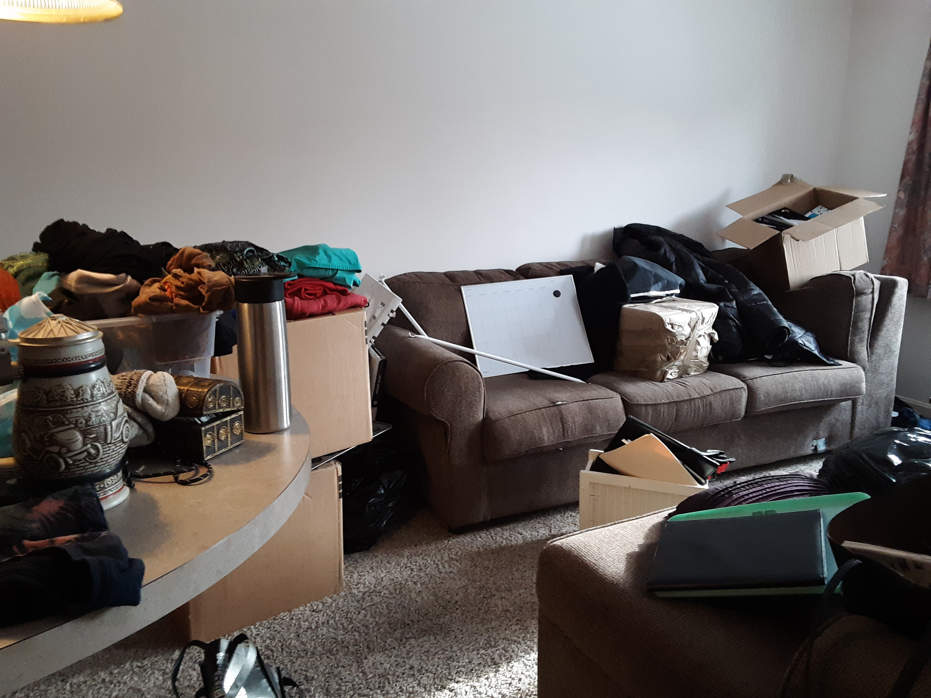 The living room - after moving, and before clearing it.