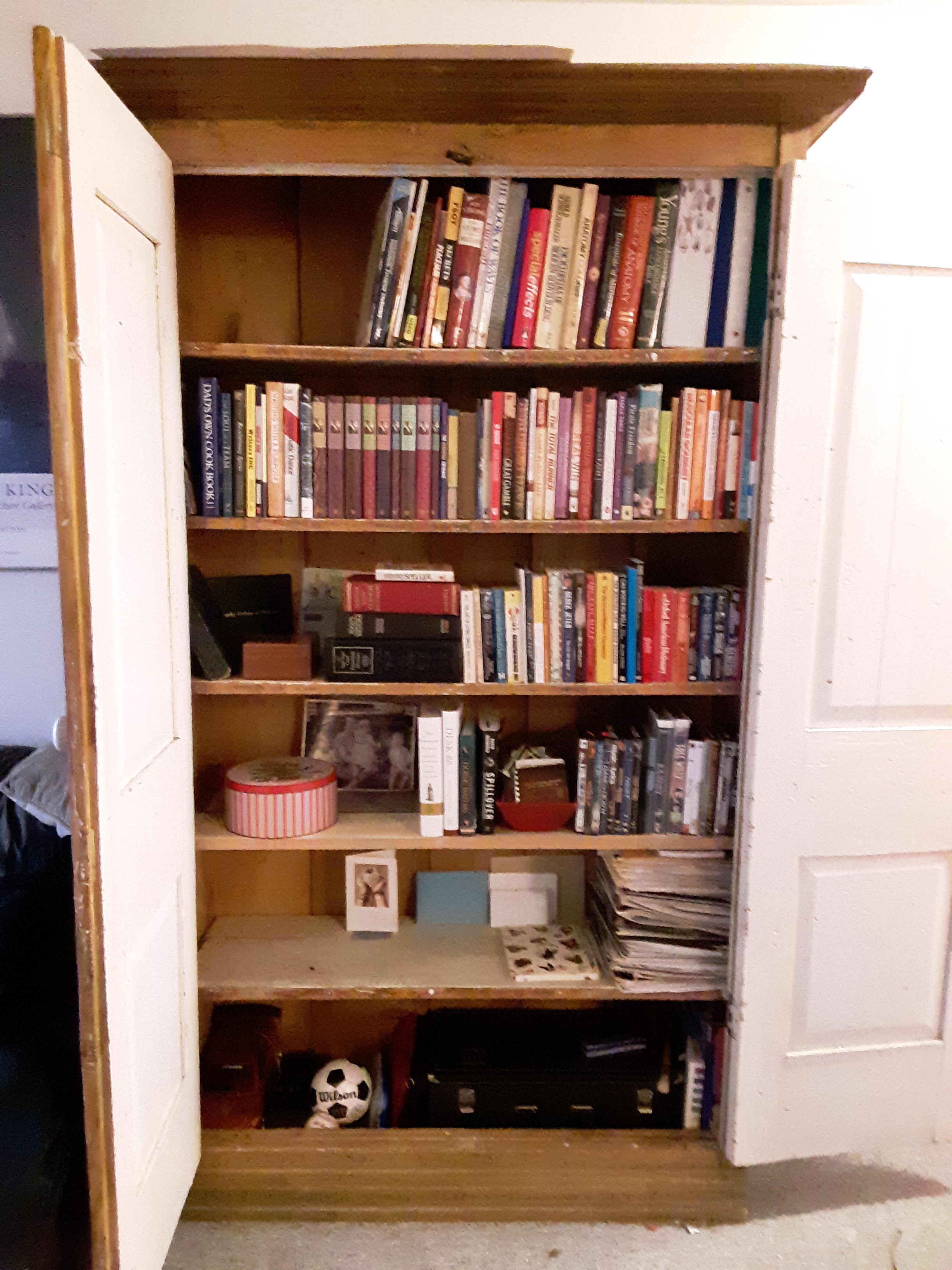 the transformed armoire in the living room