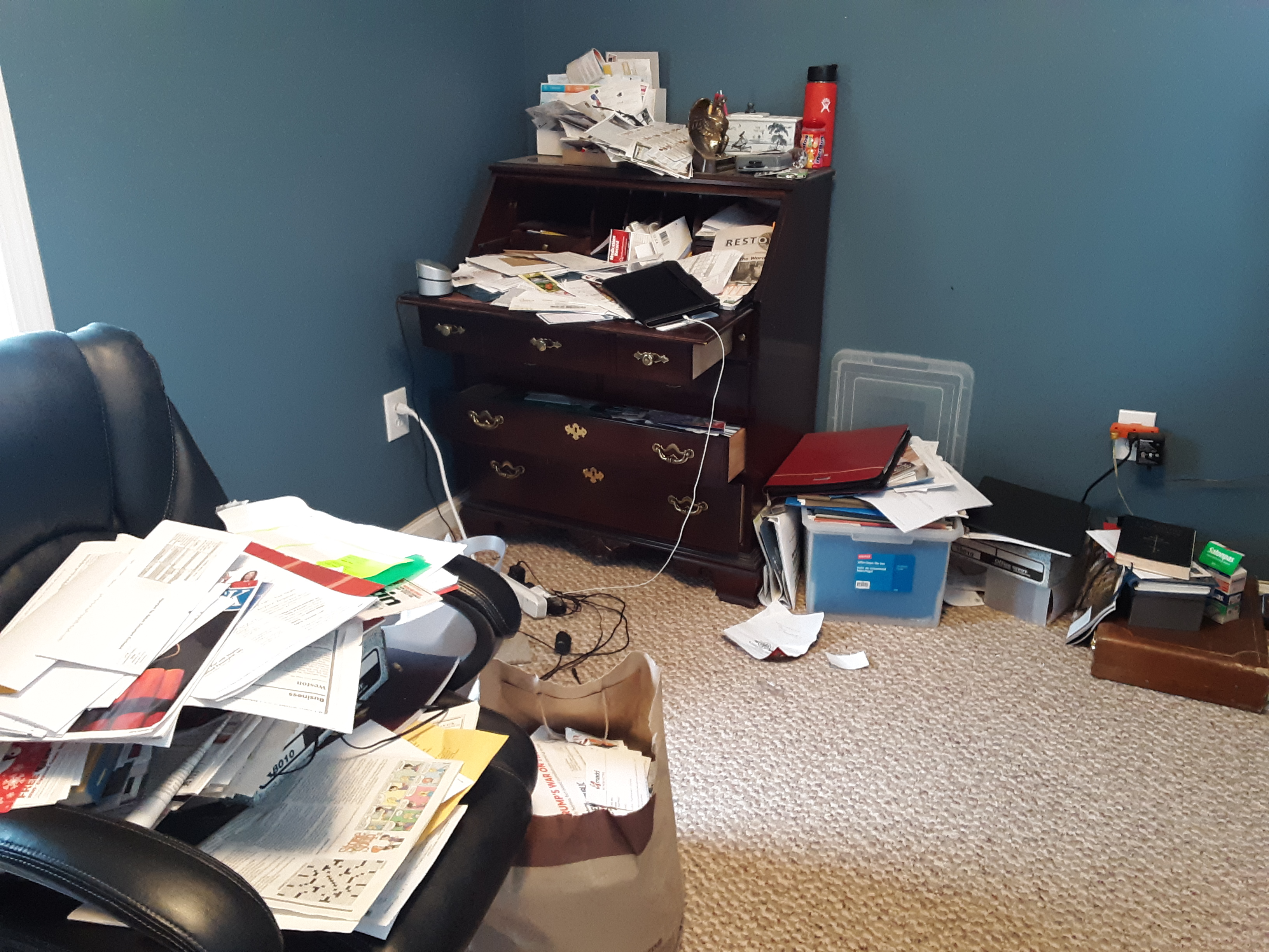 The home office secretary before we cleared its clutter