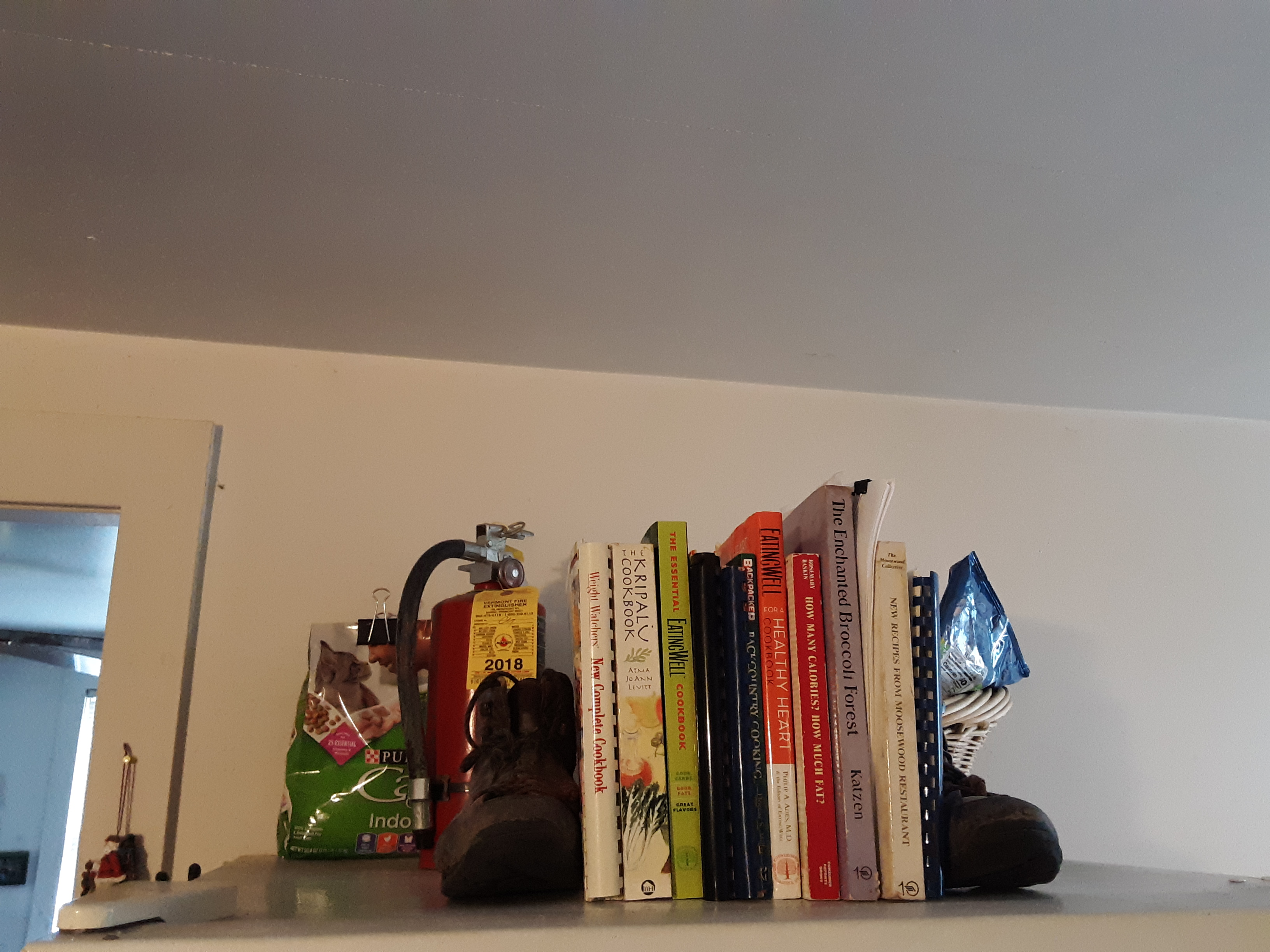 Old hiking boots become bookends!