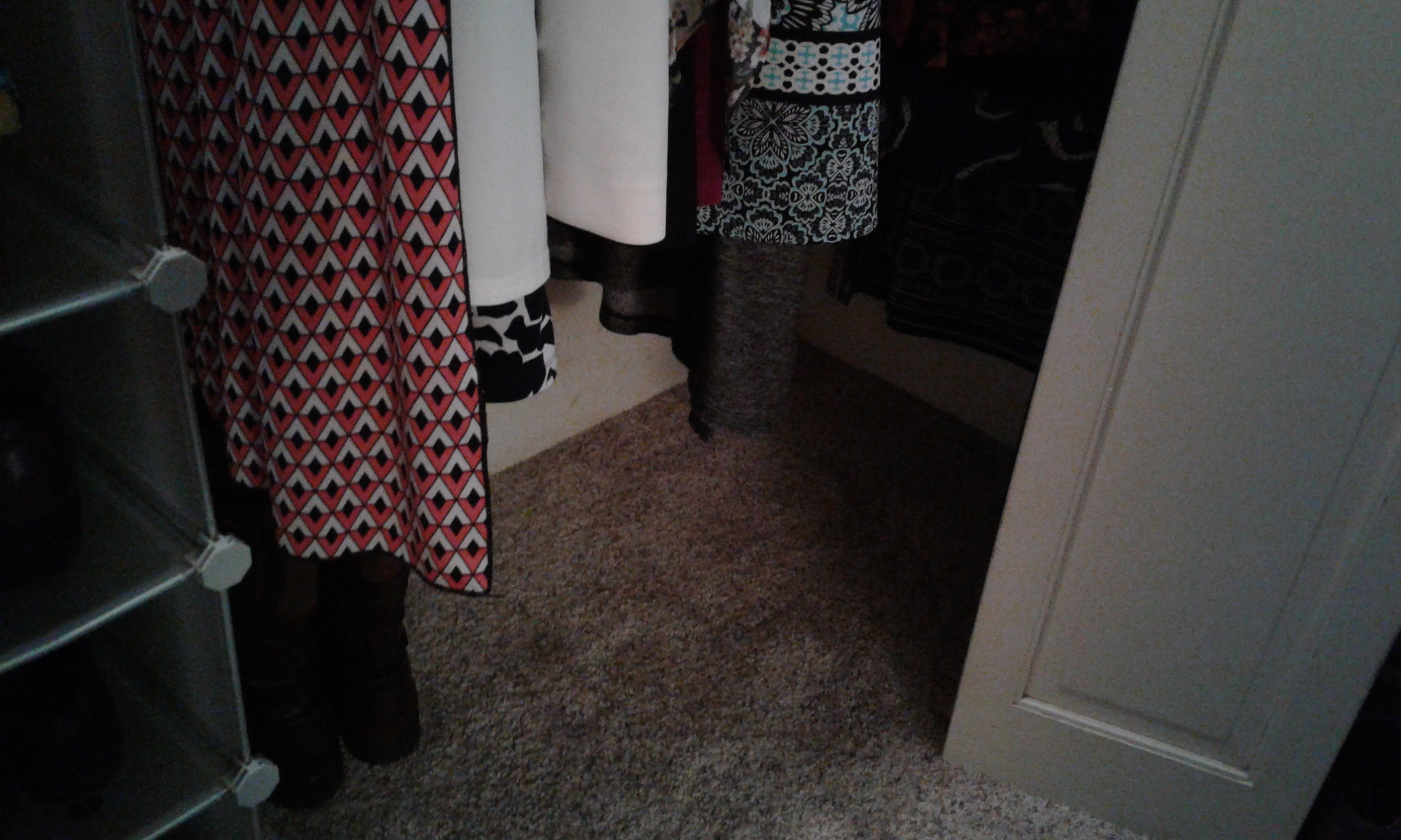 "A cleared closet floor, with ""visual noise"" gone"