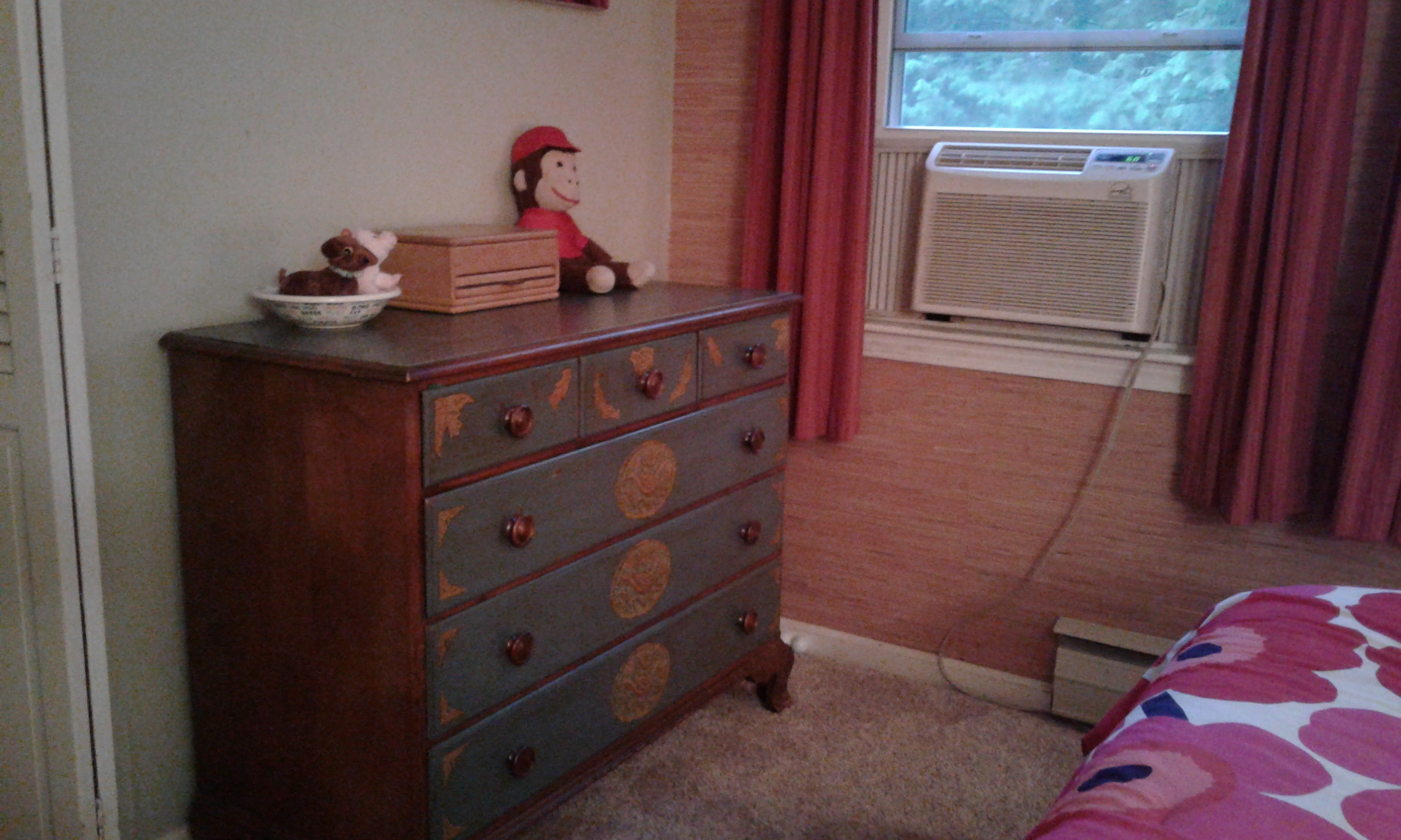 Clutter cleared from the dresser top