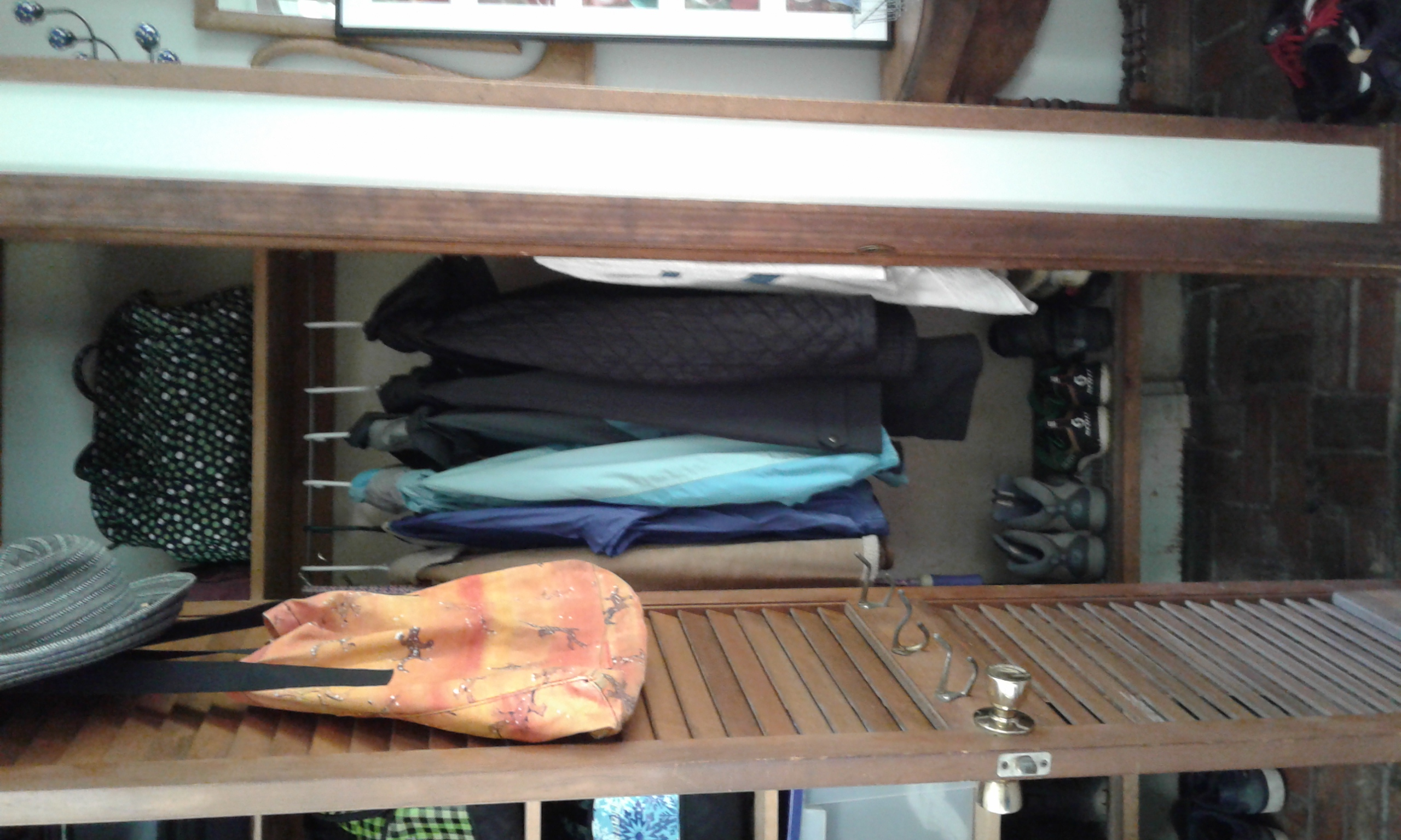Closet clutter cleared, with more room to use