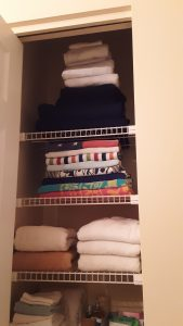 Towels and sheets folded better. Easier on the eyes!