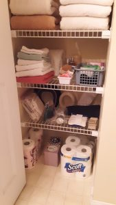 Towels, toiletries, and more - organized!