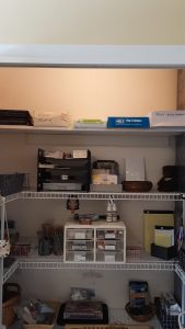 Shelves organized with items easier to reach