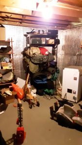Cluttered camping gear
