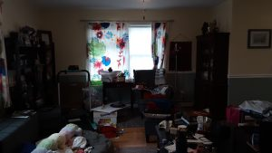 The long view of the living room before we cleared its clutter