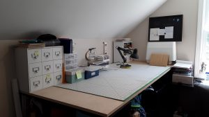 The worktable ready for action and fun!